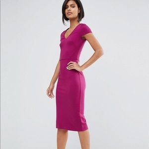 NWT French connection body con cap sleeve dress